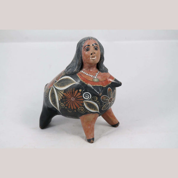 Vntg Ceramic Nagual Mexican Folk Art Handmade/Painted Decor J. A. Ortiz Signed