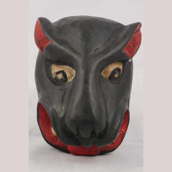 Mexican Hand Crafted Wooden Rustic Jaguar Mask
