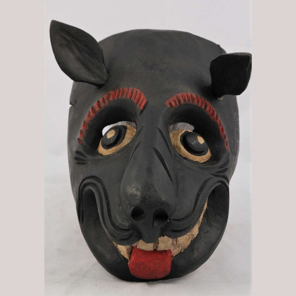 Mexican Hand Crafted Wooden Rustic Dog Mask