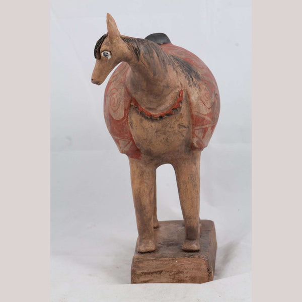 Mexican Ceramic Horse Sculpture Medium Fine Art Pottery #6