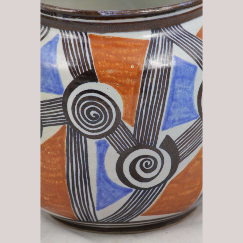 Pinwheels Ceramic Vase/Jar Mexican Pottery Guadalupe Rios Fine Folk Art