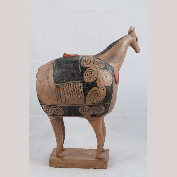 Large Ceramic Sculpture Horse Mexican Pottery Collectible Fine Art #7