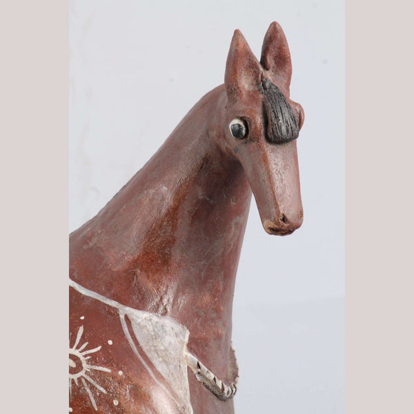 Large Ceramic Sculpture Horse Mexican Pottery Collectible Fine Art #6