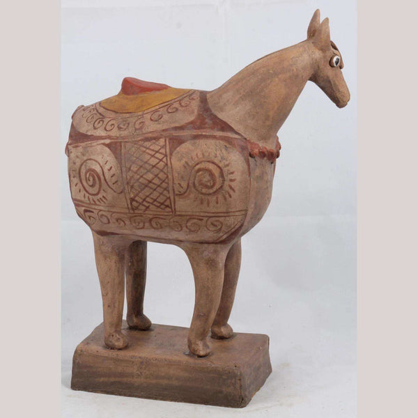 Mexican Ceramic Horse Sculpture Medium Fine Art Pottery #5