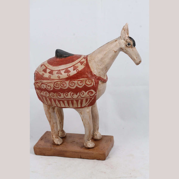 Mexican Ceramic Horse Sculpture Small Fine Art Pottery #1