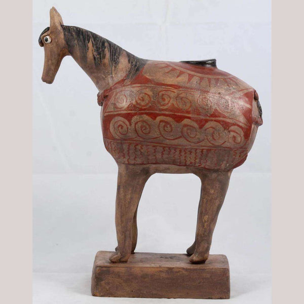 Mexican Ceramic Horse Sculpture Medium Fine Art Pottery #10