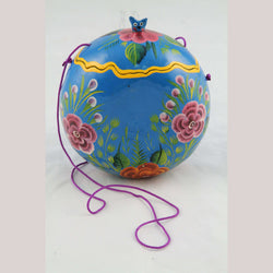 New Gourd Purse/Bag Hand Painted/Made Mexican Folk Art Colorful Collectible #2