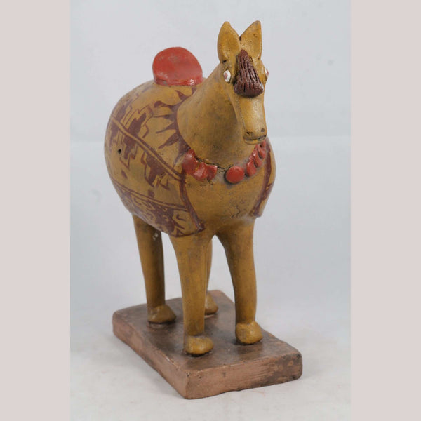 Mexican Ceramic Horse Sculpture Small Fine Art Pottery #4
