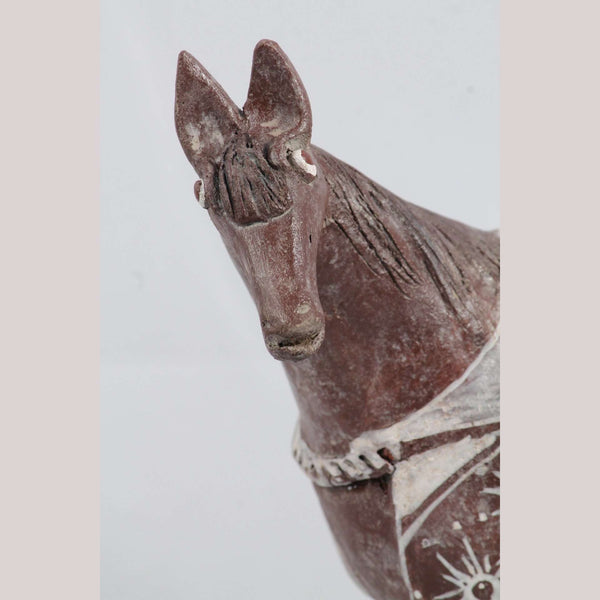 Mexican Ceramic Horse Sculpture Small Fine Art Pottery #6