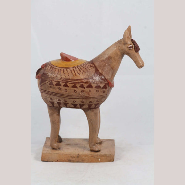 Mexican Ceramic Horse Sculpture Small Fine Art Pottery #3
