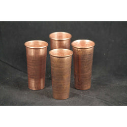 Pure Copper Shot Glasses Set of 4 Mexican Hand made