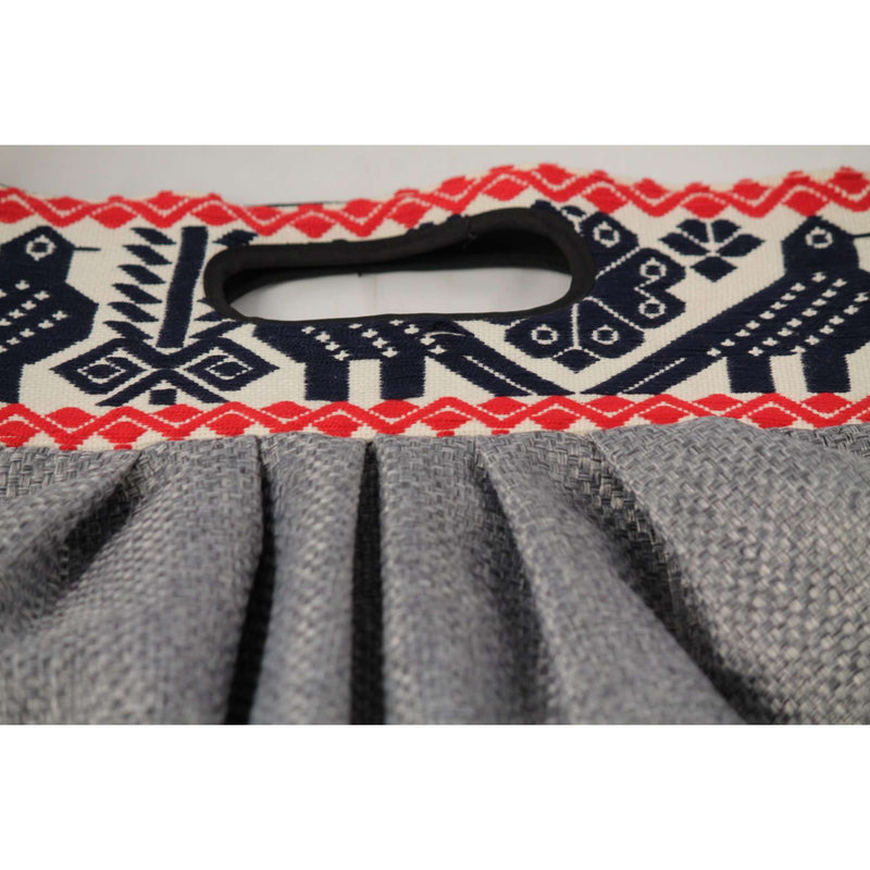 Mexican Purse/Bag/Tote Hand Embroidered Textile, Navy