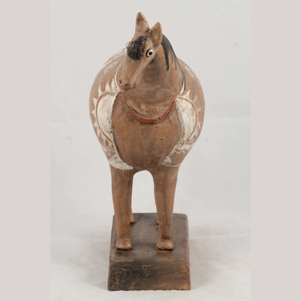 Mexican Ceramic Horse Sculpture Medium Fine Art Pottery #12