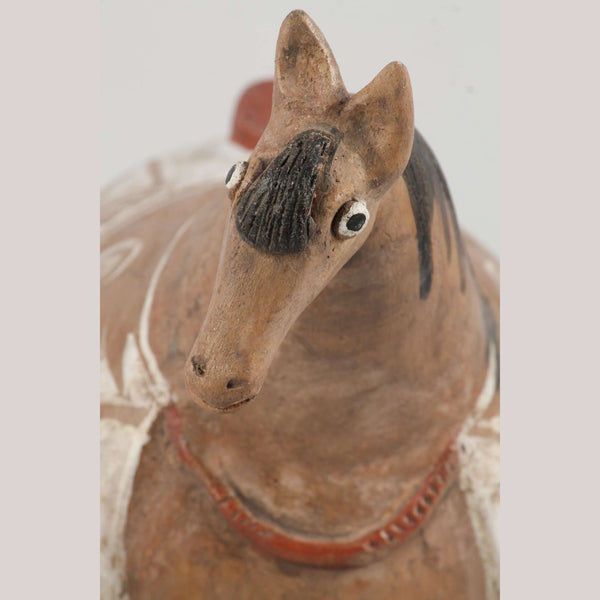 Mexican Ceramic Horse Sculpture Medium Fine Art Pottery #11