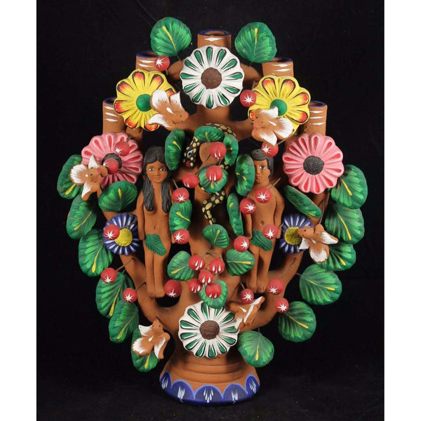 "Vintage Mexican ""Tree of Life"" Pottery/Ceramic Collectible Folk Art Home Decor"