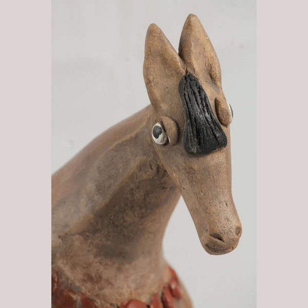 Mexican Ceramic Horse Sculpture Medium Fine Art Pottery #14