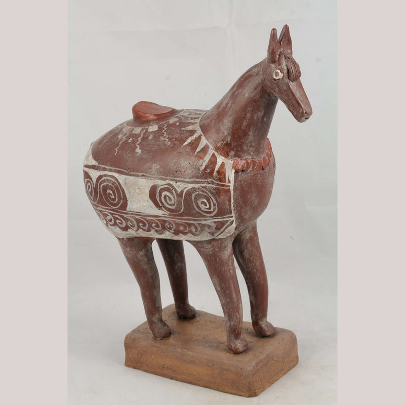 Mexican Ceramic Horse Sculpture Medium Fine Art Pottery #13