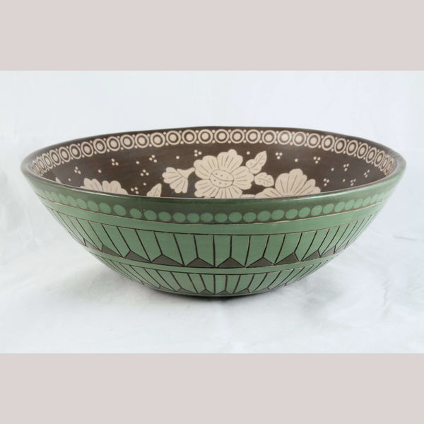 Large Bowl Ceramic/Pottery Mexican Folk Art J. G. Hernandez Cano Collectible