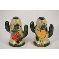 Mexican Ceramic/Pottery Salt & Pepper Shakers Hand Painted