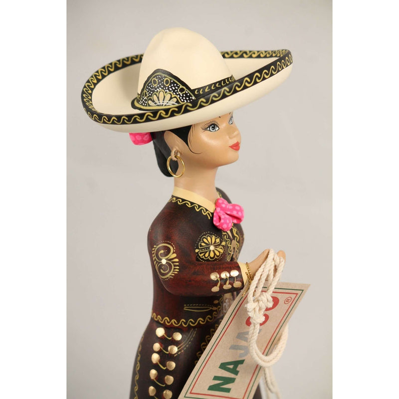 Lupita Doll, Charra Cafe, Coffee, Mexico Folk Art Original