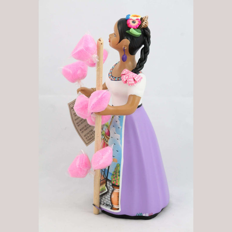 Lupita Najaco Lilac Doll/Figurine Cotton Candy Seller Mexican