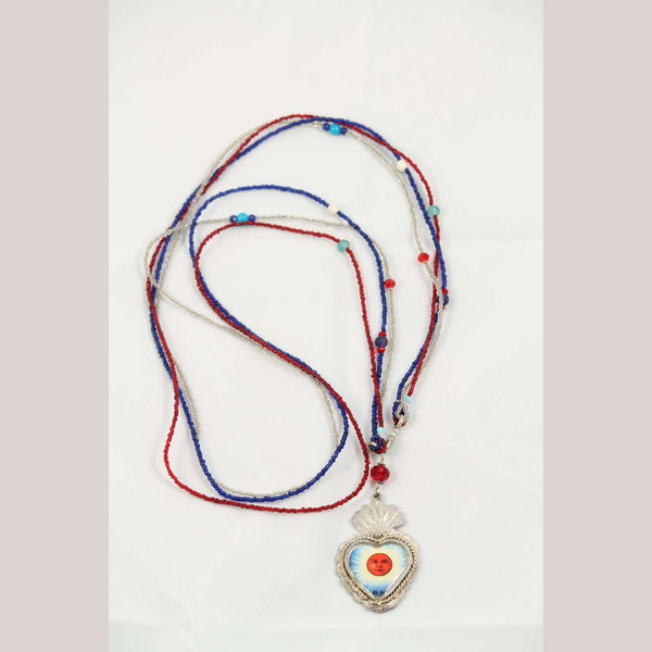 """Sun in the Heart"" Beaded Necklace Mexican Jewelry"