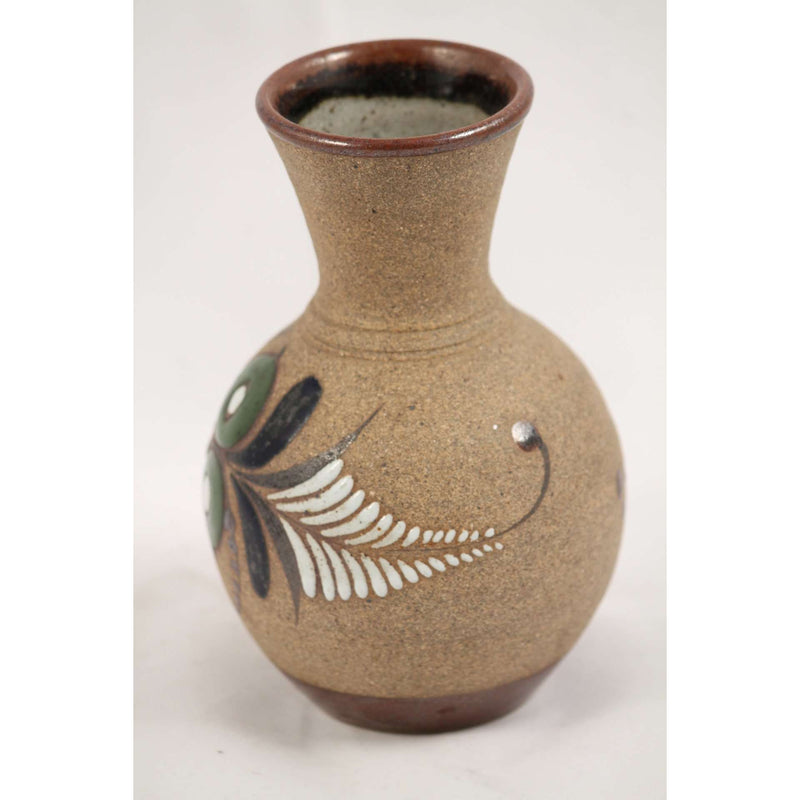 Handmade Mexican Ceramic Flower Vase