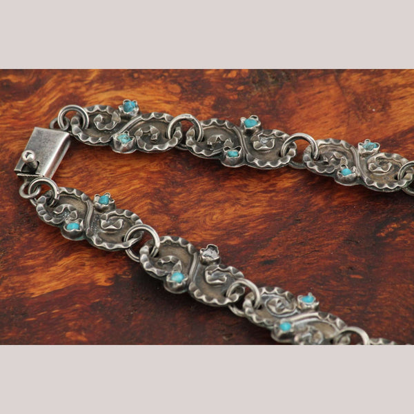 Vintage Mexican Sterling Silver Necklace .925 Handmade Taxco Stamped Jewelry