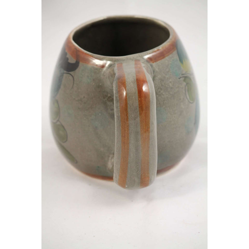 Large Glazed Ceramic Mexican Mug