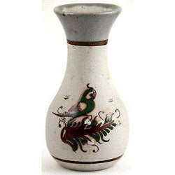 Vintage Ceramic Vase From Mexico Handmade Hand Painted, Signed by Artist