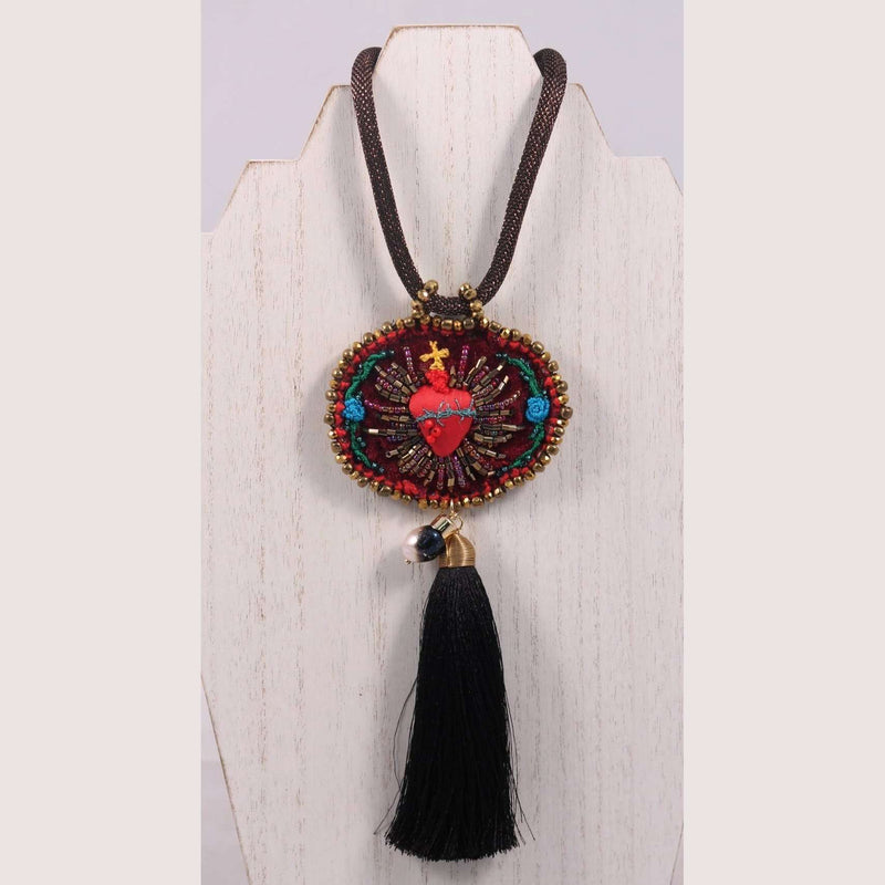 Hand Crafted Heart#1 Necklace Mexican Art Jewelry Custom Made