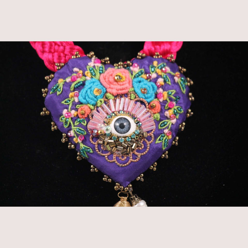 Hand Crafted Mexican Necklace Eye Jewelry Custom Made