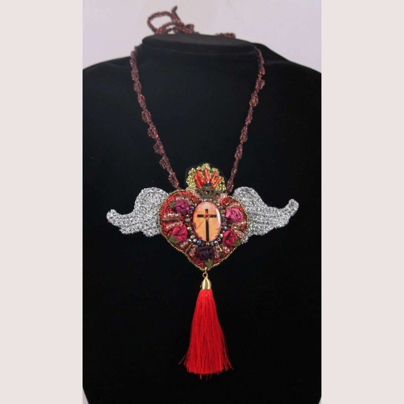 Hand Crafted Necklace Cross Mexican Art Jewelry Custom Made