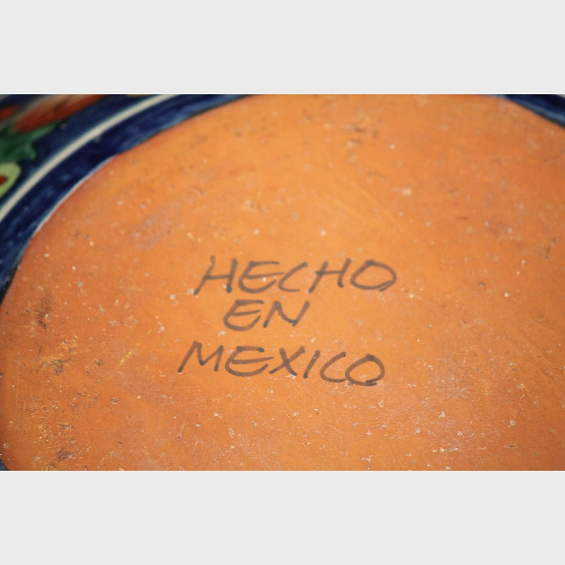 Mexican Ceramic Bowl Handmade/Painted Huge