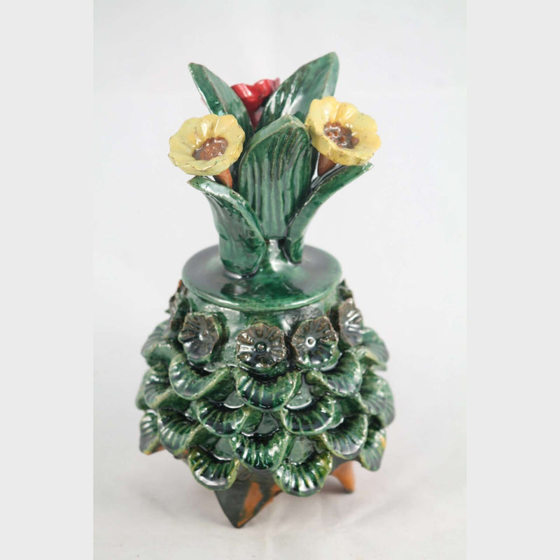 Mexican Ceramic Pineapple/Lid Folk Art Hand Made #2