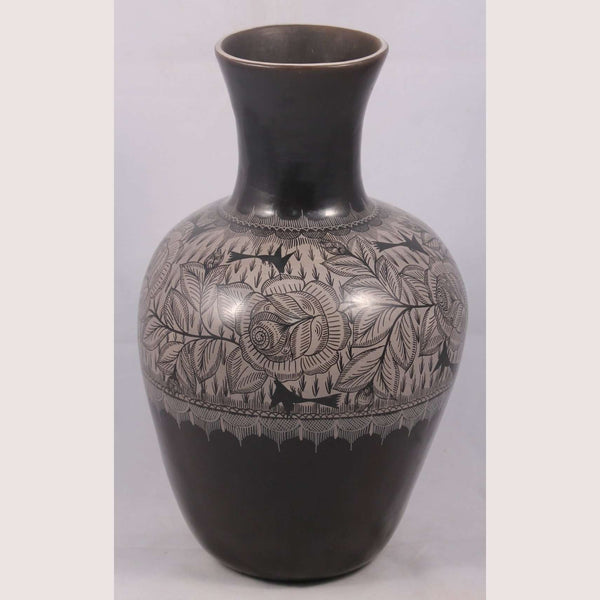 New Vase Mexican Ceramic/Pottery Hand Painted Large 1