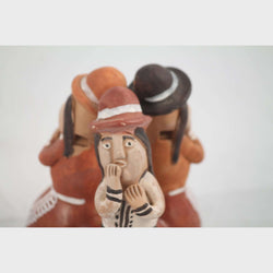 Pottery/Clay Whistle 3 Players Folk Art Peru/Latin America Collectible Decor
