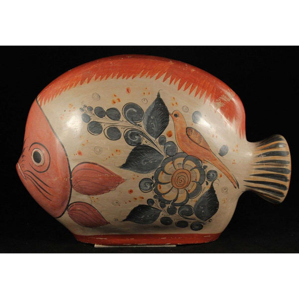 Vintage Mexican Huge Ceramic Fish Decorative Art