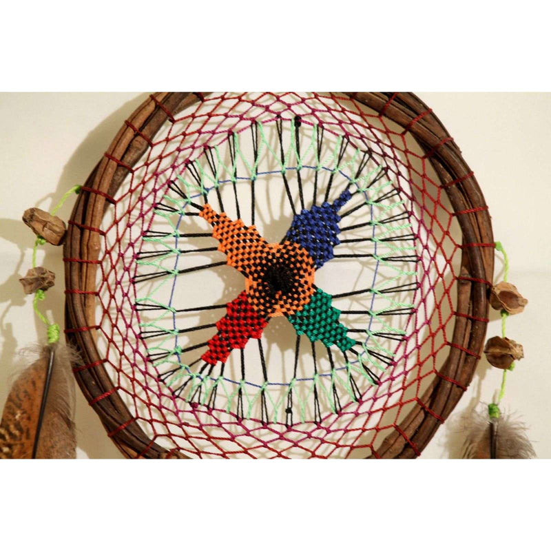 Mexican Dream Catchers Hand Made Folk Art Yucatan Collectible Decorative # 10