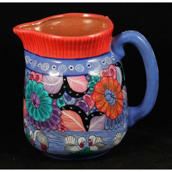 Mexican Ceramic Pitchervase Hand Madepainted Folk Art Decorative Pot