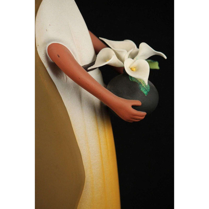 Mexican Ceramic/Pottery Woman/Female Figurine Folk Art Collectible Signed Lily