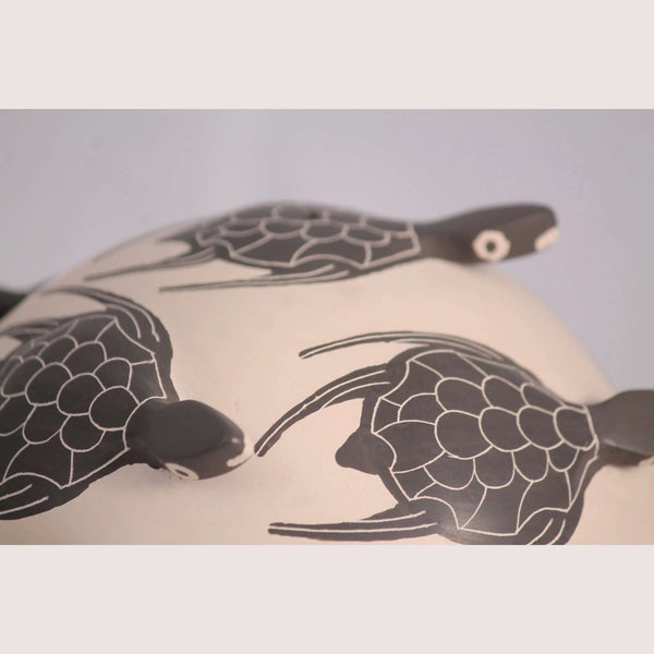 Sea Turtles, Mata Ortiz Pottery from Efren Ledezma Mexican Fine Folk Art new