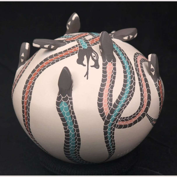 Snakes, Mata Ortiz Pottery from Efren Ledezma Mexican Fine Folk Art new
