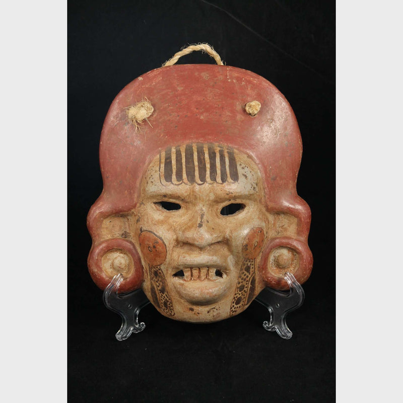 Vintage Mexican Ceramic Hanging Mask Hand Made/Painted