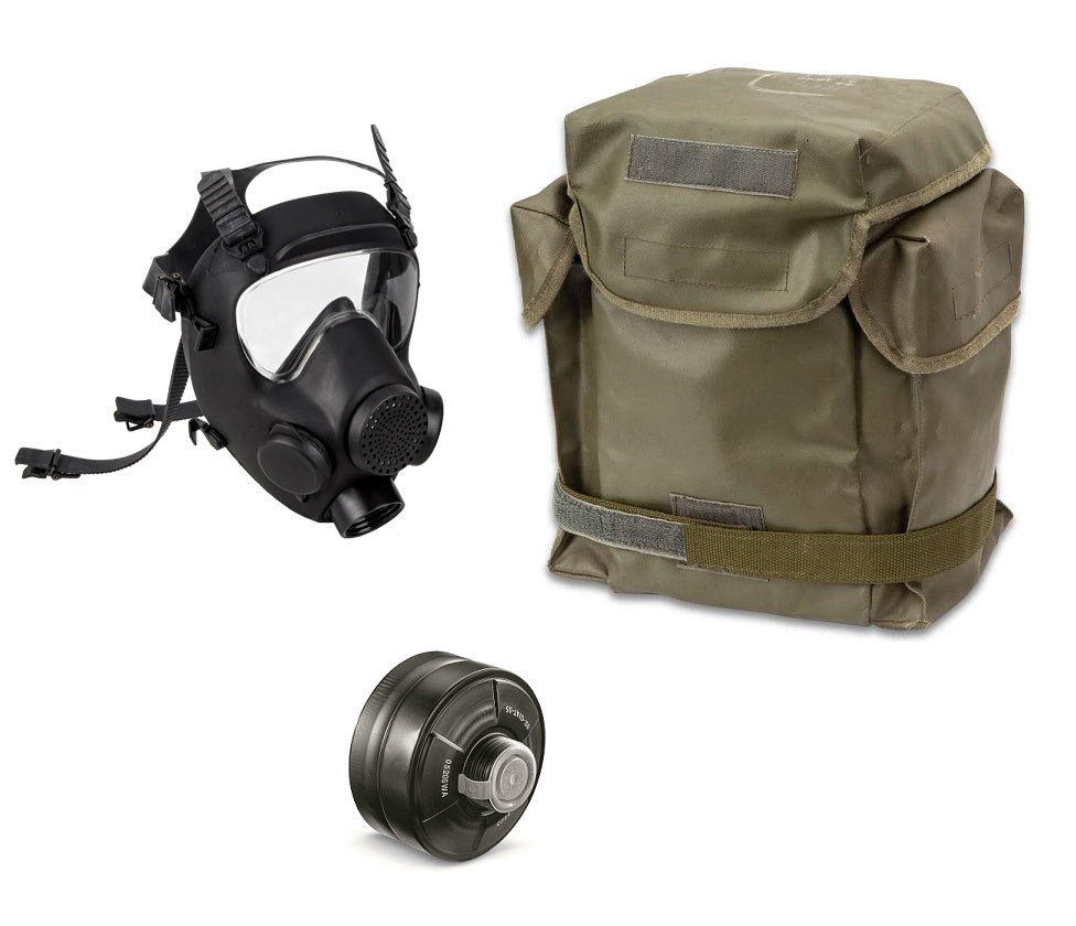 MP5 Military Polish Gas Mask w/Bag and 40mm Filter Size Small 4 ONLY