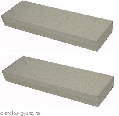"(2) 6"" Aluminium Oxide Sharpening Stone 120 240 Grit Knife Sharpener  Whetstone"