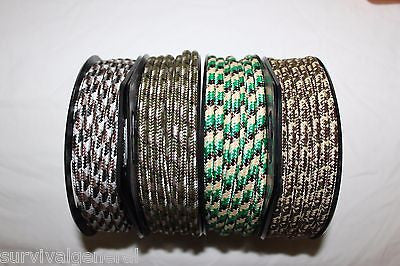 "(2) 1/4"" X 65' Camo Rope Spool Camouflage Multi Use Utility Camping Survival BOB"