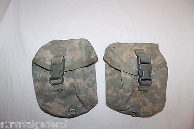 (2) Army IFAK Pouch Improved First Aid Kit Medical Pouch ACU Camo Military Molle