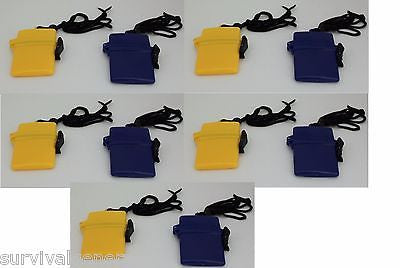 (10) Mini Waterproof Plastic Container Storage Case Holder ID Credit Card Money