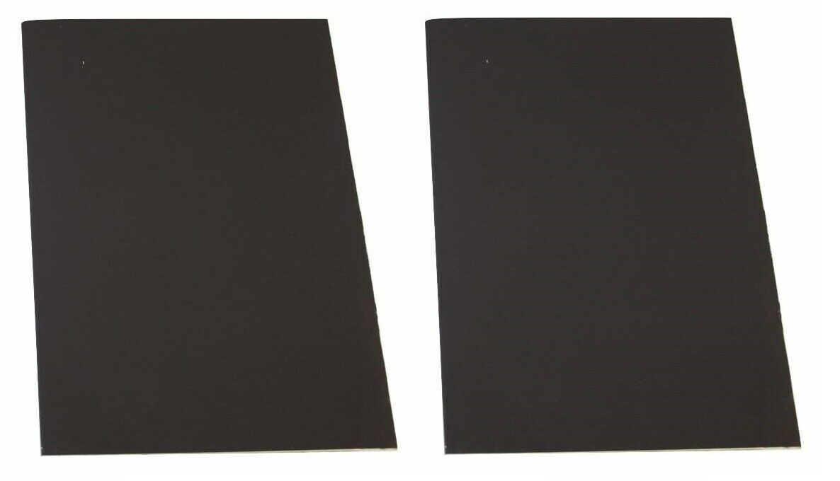 "Black 8"" x 11"" Match Striker Paper with Adhesive Back"